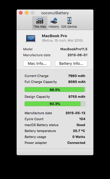 MacBookProバッテリー