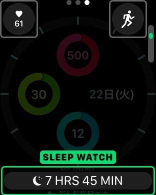 SleepWatchのWatchフェイス