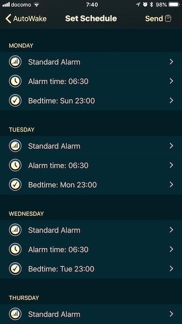 Set Schedule day
